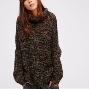 Free People Oversized Alpaca Blend Chunky Sweater
